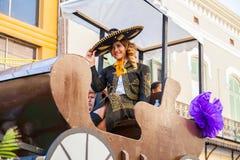 Desfile Fiestas Mexicanas. Matamoros, Tamaulipas, Mexico - March 02, 2013, Desfile Fiestas Mexicanas is part of the Charro Days Fiesta - Fiestas Mexicanas, A bi royalty free stock photo