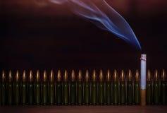 Matanças de fumo Imagem conceptual Fotografia de Stock Royalty Free