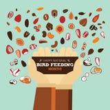 Matande månad för nationell fågel Royaltyfria Bilder