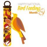 Matande månad för nationell fågel Arkivbild
