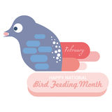 Matande månad för nationell fågel Arkivfoton