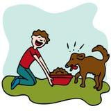 matande matman för hund stock illustrationer