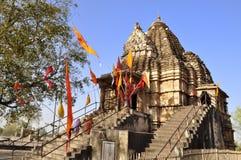 Matangeshvara Temple, Khajuraho, UNESCO world heri. KHAJURAHO, MADHYA PRADESH, INDIA - MARCH 2011 : Devotees at Matangeshvara Temple, dedicated to Lord Shiva Stock Photos