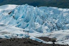 Matanska Glacier Alaska. The Matanska Glacier with people hiking on it Stock Image