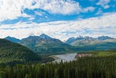 Matanska River and Mountains. The Matanska River and Mountains during a sunny summer day Royalty Free Stock Image