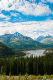 Matanska River and Mountains Royalty Free Stock Photos
