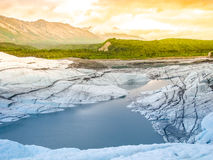 Matanuska冰川熔化 免版税库存照片