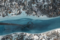 Matanuska冰川的阿拉斯加裂隙 库存图片