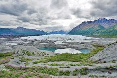 The Matanuska Glacier stock image