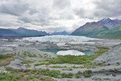 The Matanuska Glacier. In Alaska Royalty Free Stock Photography