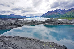 The Matanuska Glacier. In Alaska Stock Images