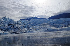 Matanuska Glacier Alaska. Looking across the ice of the Matanuska Glacier in Alaska, near Anchorage. A popular tourism destination stock photography
