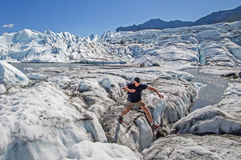 Matanuska Glacier Crevasse Jumper Royalty Free Stock Photos