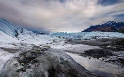 Matanuska Gletscher und Berge Stockfotografie