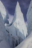 Matanuska Peaks Glacier Alaska - Blue Ice Stock Photo
