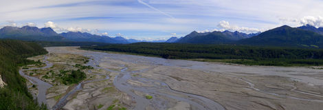 Matanuska River Valley, Alaska Royalty Free Stock Images