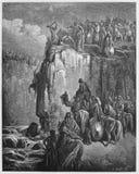 Matanza de los profetas del Baal Fotos de archivo libres de regalías