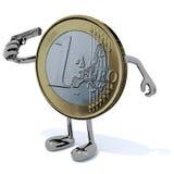 Matanza euro sí mismo de la moneda Imagen de archivo