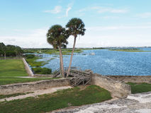 Matanzas Bay in St. Augustine Florida. View of Matanzas Bay from the fort in St. Augustine Florida Stock Photo