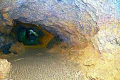 Matanzas, Cuba Cavernes de Bellamar ? l'int?rieur photo stock