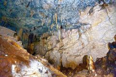 Matanzas, Cuba Cavernes de Bellamar ? l'int?rieur photographie stock libre de droits