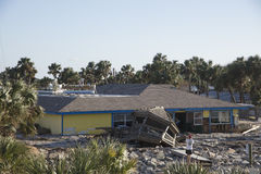 Matanzas Innlet Restaurant after Hurricane Matthews Royalty Free Stock Photos