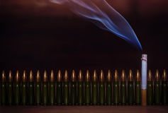 Matanzas que fuman Imagen conceptual Fotografía de archivo libre de regalías