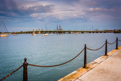 The Matanzas River in St. Augustine, Florida. Royalty Free Stock Photos