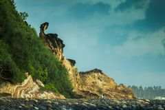Matara-Strand in Sri Lanka lizenzfreies stockbild