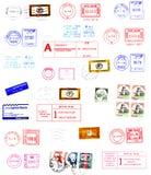 Matasellos, escrituras de la etiqueta, sellos del poste Fotos de archivo libres de regalías