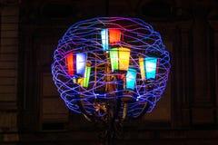 Matassa di filato luminoso, Torino Immagini Stock Libere da Diritti