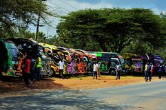 Matatu. Mode of transportation in Kenya Royalty Free Stock Photos