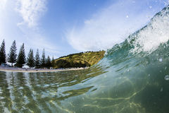 Matauri Bay Wave, Northland, NZ Royalty Free Stock Images
