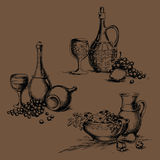 Matbilder för meny royaltyfri illustrationer