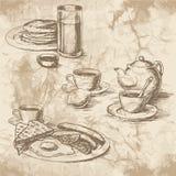 Matbilder för meny vektor illustrationer