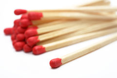 Match. Some matches and a white background Royalty Free Stock Photo