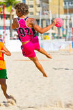 Match of the 19th league of beach handball, Cadiz Royalty Free Stock Image