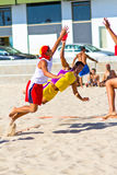 Match of the 19th league of beach handball, Cadiz Royalty Free Stock Photography