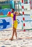 Match of the 19th league of beach handball, Cadiz Stock Photography