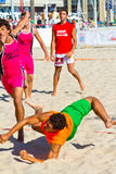 Match of the 19th league of beach handball, Cadiz Royalty Free Stock Photos
