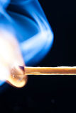 Match aflame Royalty Free Stock Photos