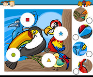 Match bessert Spielkarikatur aus Stockfotos
