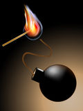 Match with bombs Stock Image