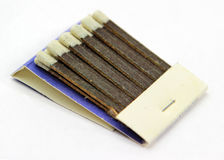 Match Book. Unfolded match book with all the sticks still intact royalty free stock images