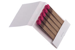 Match book. With pink matches isolated on white background Stock Photography