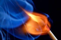 Match brûlant Photographie stock libre de droits