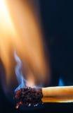 Match burn Stock Image