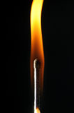 Match bursting into flame Royalty Free Stock Photo