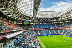 Match Cameroon and Australia at the Confederations Cup in Saint. Saint-Petersburg .Russia.22 June 2017. Match Cameroon and Australia at the Confederations Cup in Royalty Free Stock Photography