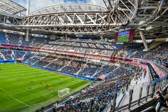 Match Cameroon and Australia at the Confederations Cup in Saint. Saint-Petersburg .Russia.22 June 2017. Match Cameroon and Australia at the Confederations Cup in Royalty Free Stock Image